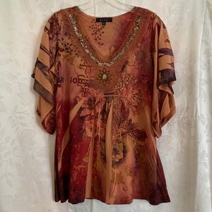 B.L.E.U. Tunic with Sequins and beading in Size M